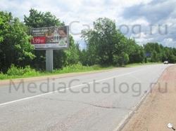Рекламный щит Приозерское шоссе, 49500 м - Приозерское и Новоприозерское шоссе (А129, А121) .